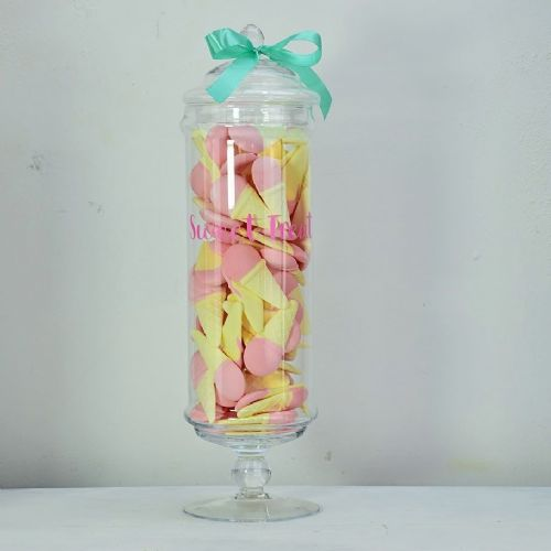 Sweet Treat Glass Jar Pink 50cm